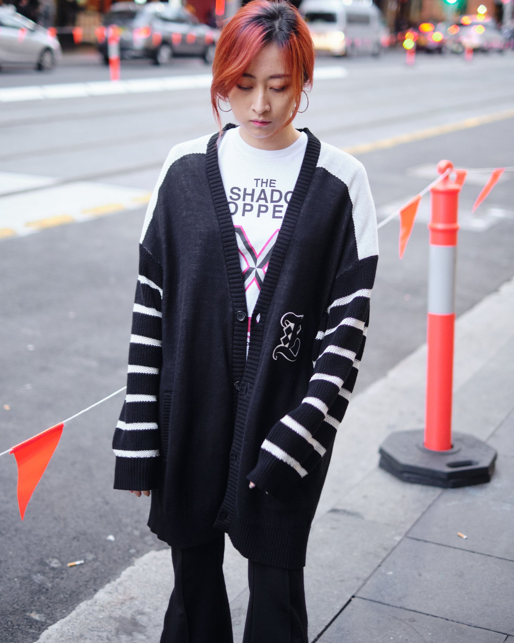 UNDERCOVER BOOTLEG TRUTH KNIT CARDIGAN