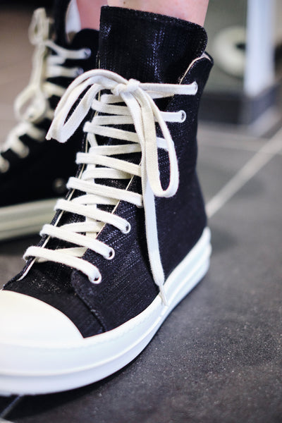 JAPANESE DENIM HI-TOP SNEAKERS W
