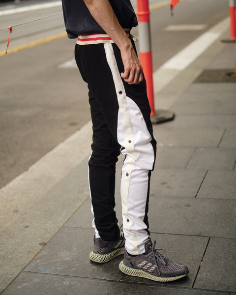 GREG LAUREN BLACK BORG LONG PANT