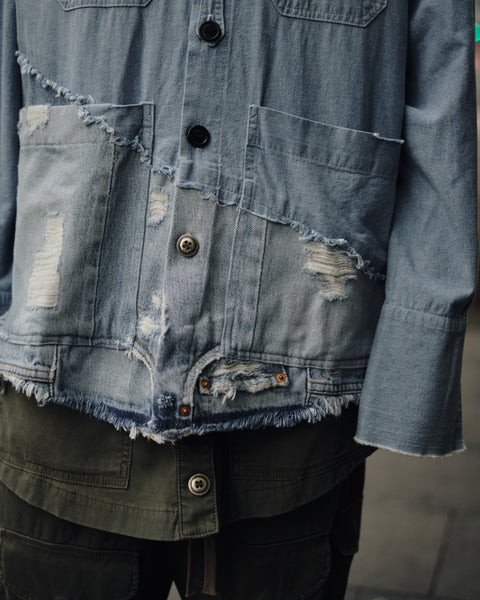 50/50 CHAMBRAY/DENIM BOXY STUDIO SHIRT