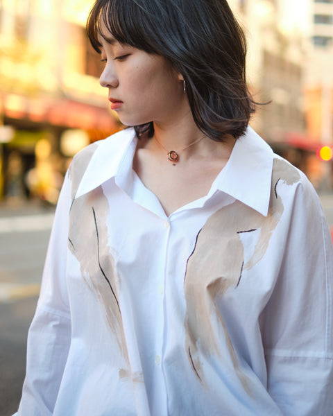 YOHJI ARTWORK BUTTON UP SHIRT