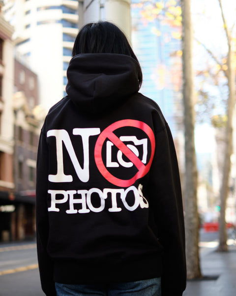 NEW NO PHOTOS HOODIE - BLACK