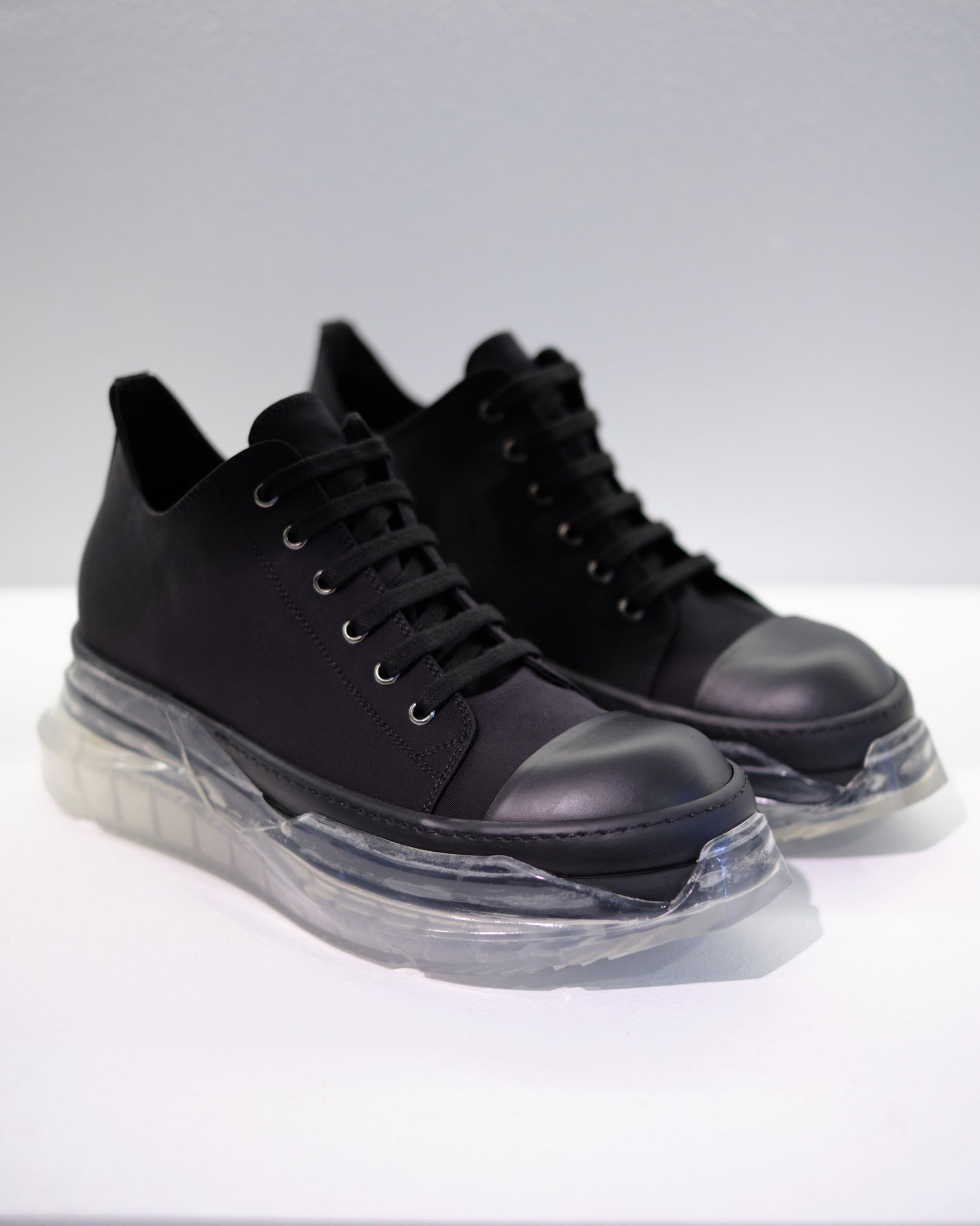 DRKSHDW ABSTRACT SNEAKER - BLACK/BLACK/CLEAR
