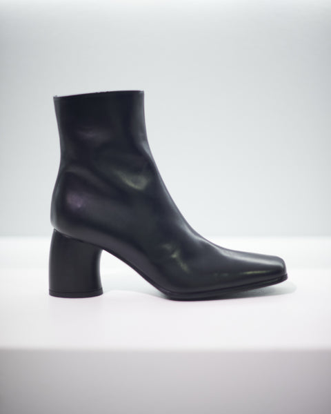 VITELLO SETA CRUST BOOTS - BLACK