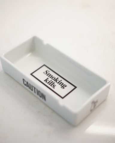FR2 ARITA WARE ASHTRAY - WHITE/BLACK