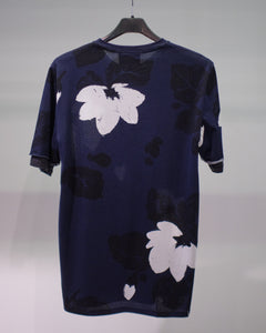 SS DOUBLE SLEEVE NIGHT FLORAL T-SHIRT - MIDNIGHT