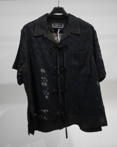 Professor.E LACE LAYER COLLAR SHIRT