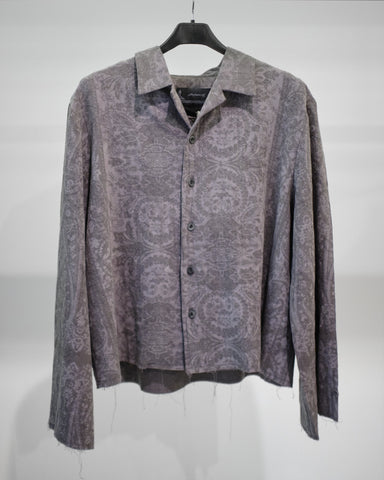 Professor.E SEASONAL PRINT L/S SHIRT - GREY