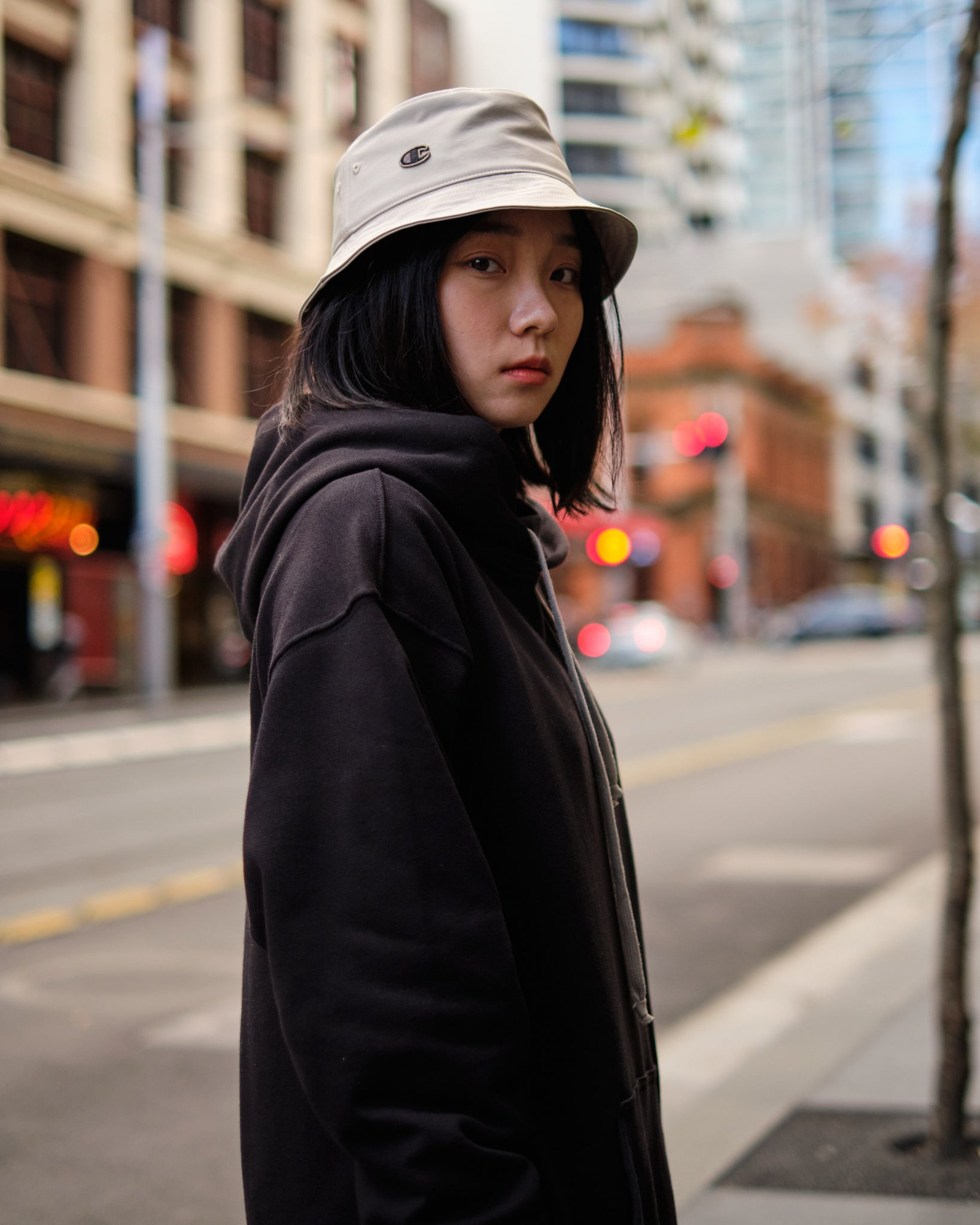 NYLON BUCKET HAT - PEARL
