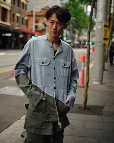 50/50 CHAMBRAY/ARMY STUDIO SHIRT