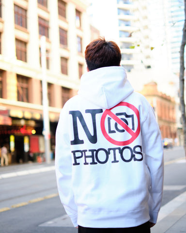 NEW NO PHOTOS HOODIE - WHITE