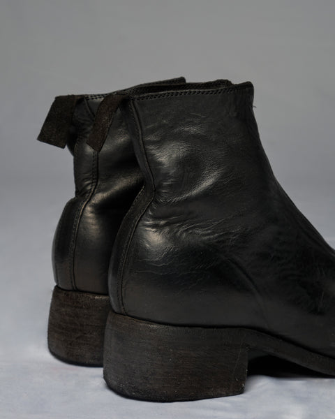 GUIDI PL1 SOFT HORSE FULL GRAIN FRONT ZIP BOOTS - BLACK