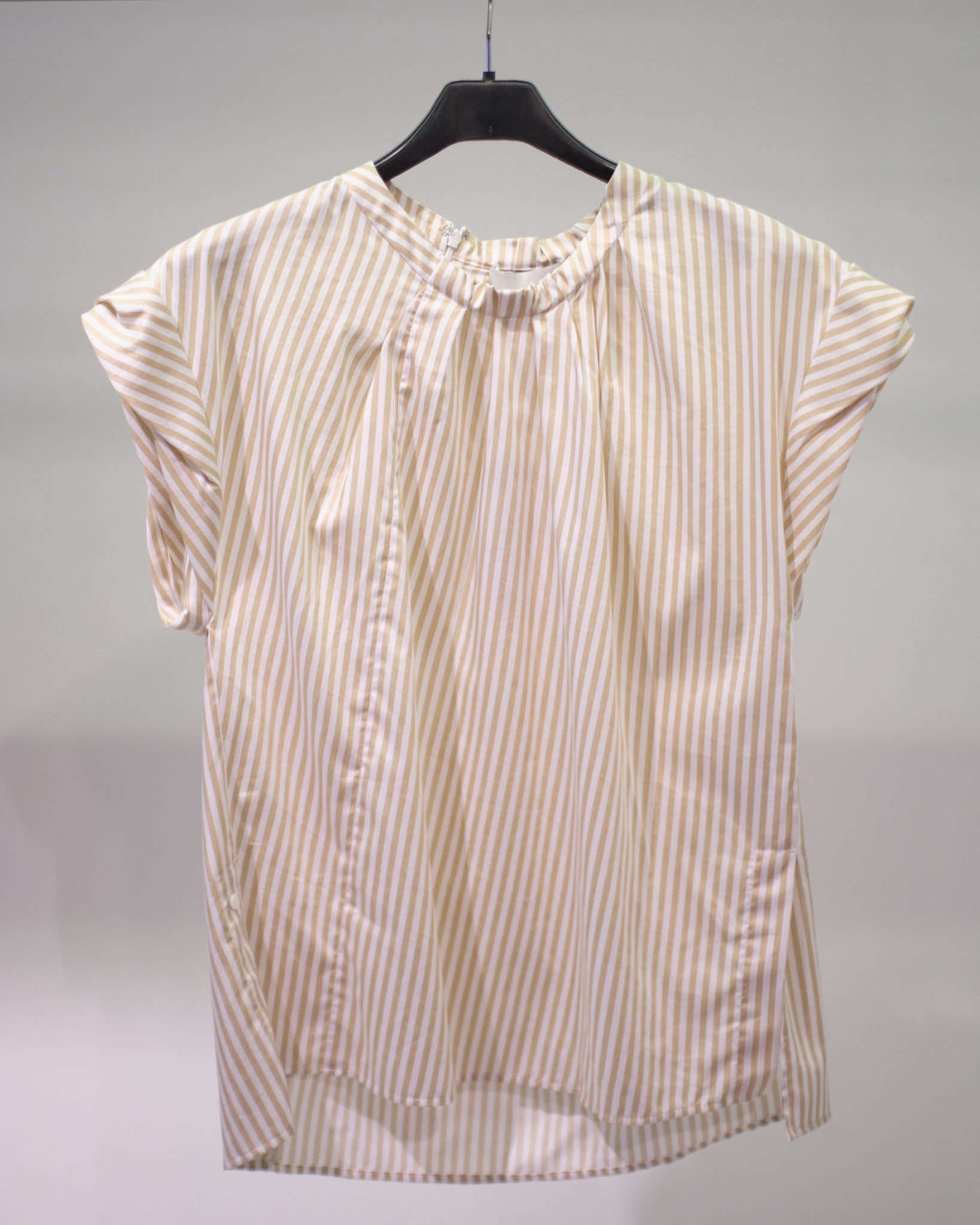 3.1 PHILLIP LIM S/S STRIPED TWISTED NECK TOP