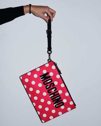 MOSCHINO POLKA DOTS CLUTCH