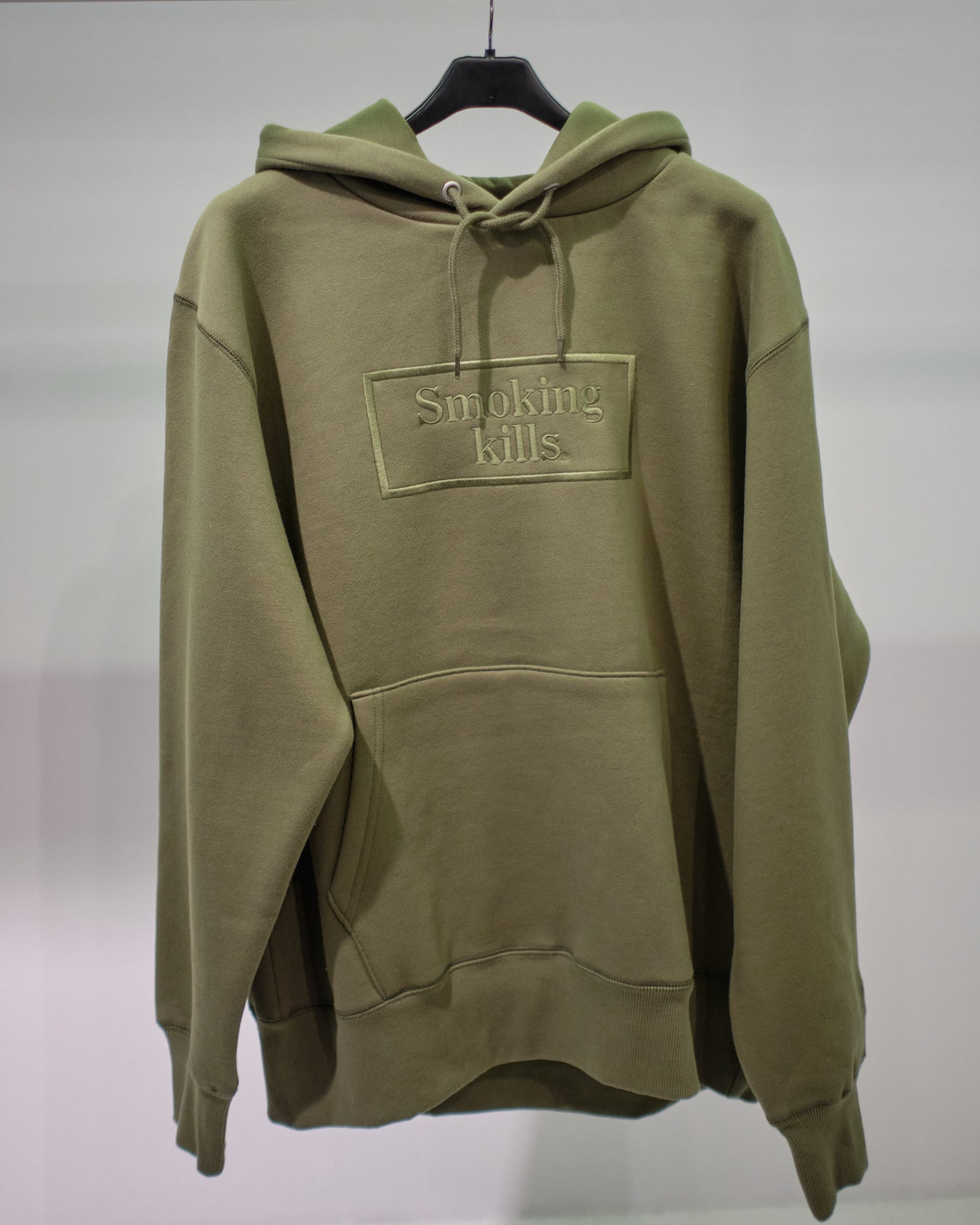 FR2 SMOKING KILLS EMBROIDERY HOODIE - GREEN