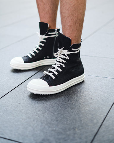 JAPANESE DENIM HI-TOP SNEAKER