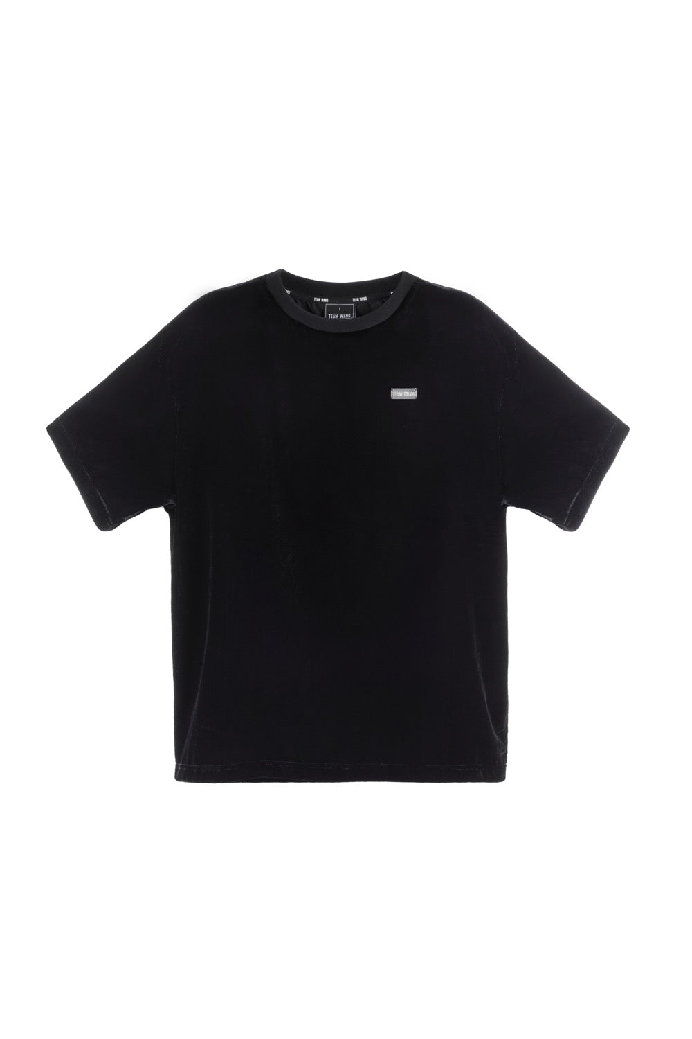 TEAM WANG PRINTED LOGO VELVET TEE