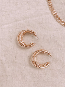 Heart of gold | Hoop Earrings