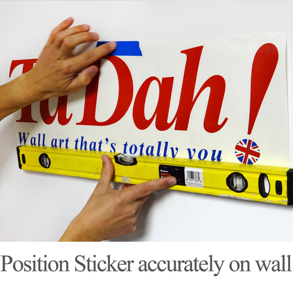 Wall Stickers Application Instructions Step 1 Position Sticker Accurately on Wall