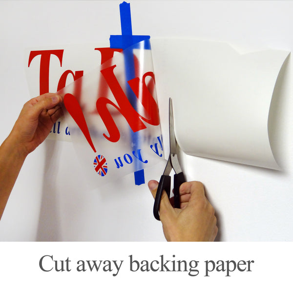 Wall Stickers Application Instructions Step 2 Cut Away Backing Paper
