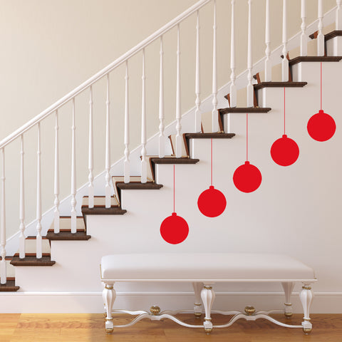 Christmas Baubels Wall Stickers