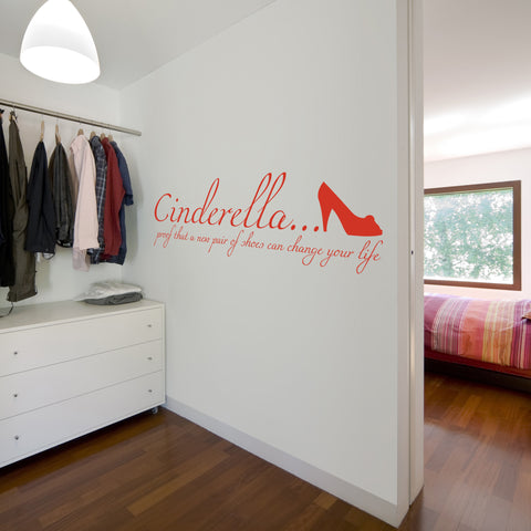 new pair of shoes wall sticker