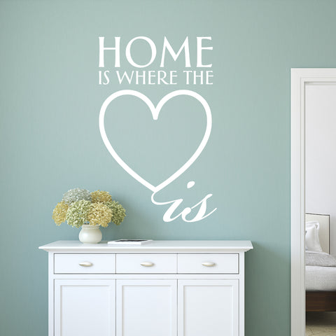 Home is Where the Heart is Wall Sticker Quote