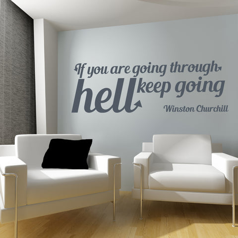 Keep going wall sticker quote