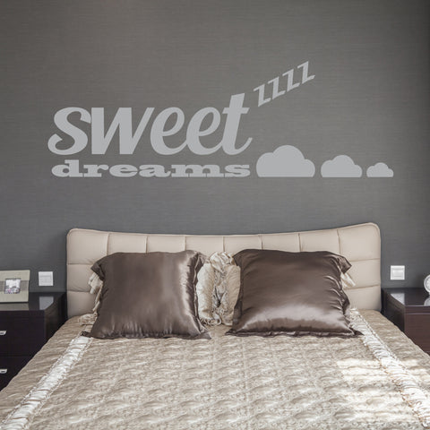 sweet dreams wall sticker quote