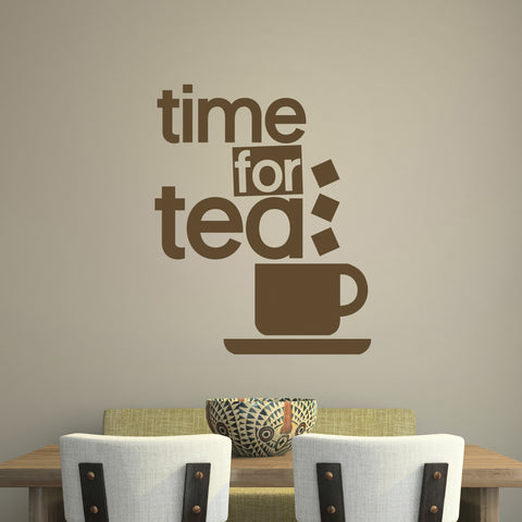 time for tea wall sticker