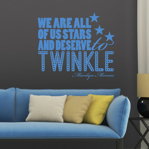 twinkle wall sticker quote