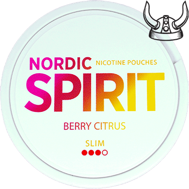 Nordic Spirit Berry Citrus Slim All White Portion