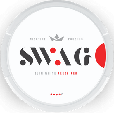 SWAG Fresh Red Slim Super Strong All White