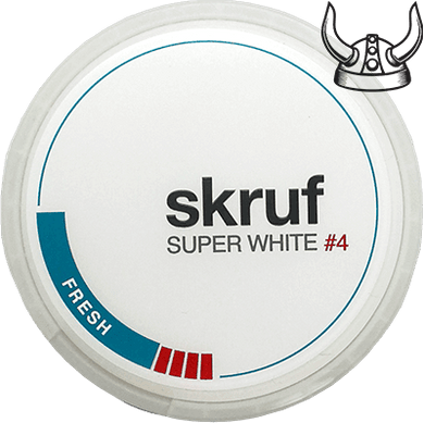 Skruf Super White Slim Fresh #4 ALL WHITE