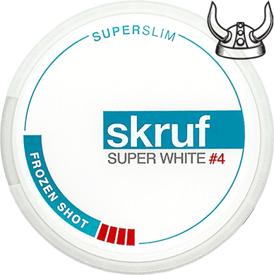 Skruf Super White Super Slim Frozen Shot #4 ALL WHITE