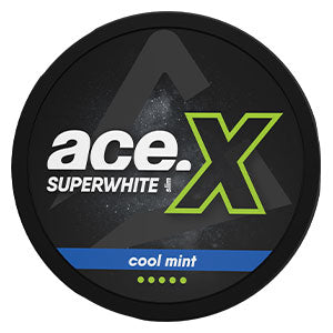 ACE X Cool Mint Super Strong ALL WHITE Portion