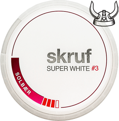 Skruf Super White Solbær Slim #3 ALL WHITE