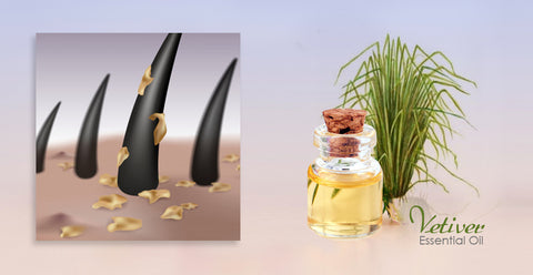 Vetiver Essential oil for Dry scalp