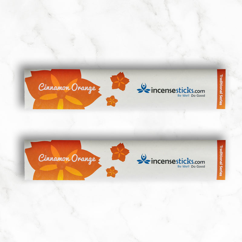 "Cinnamon Orange Incense 8"" 10 Sticks"