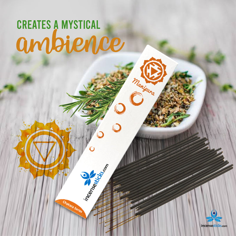 "Manipura Incense 8"" inch 12 Sticks"