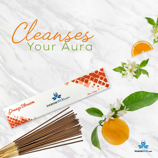 "Orange Blossom Incense 10"" inch 12 Sticks"