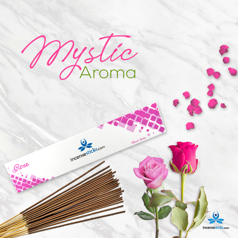 "Rose Incense 10"" inch 12 Sticks"