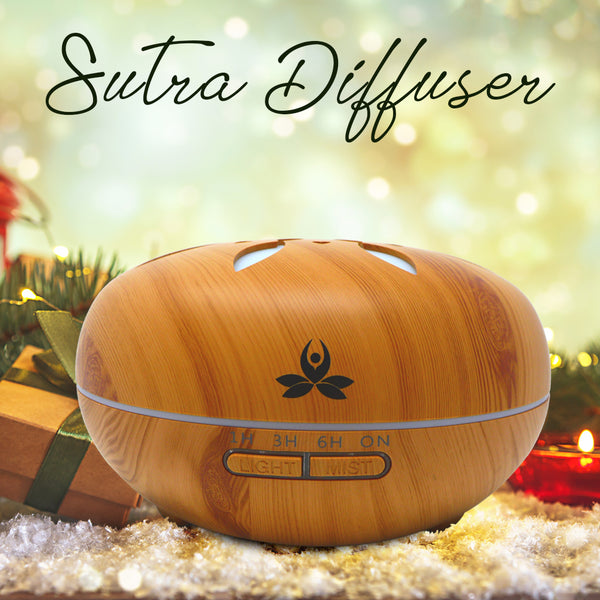 Portable- 550ML Wooden look Essential oil Diffuser (Sutra)