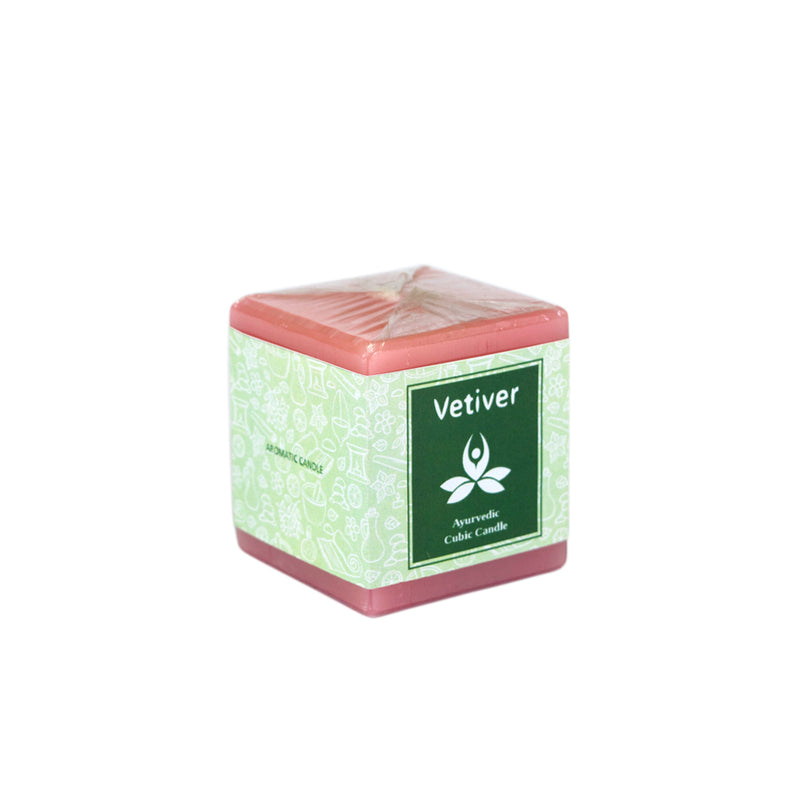 Ayurvedic Cubic Candles - Vetiver Ayurvedic Cubic Candle