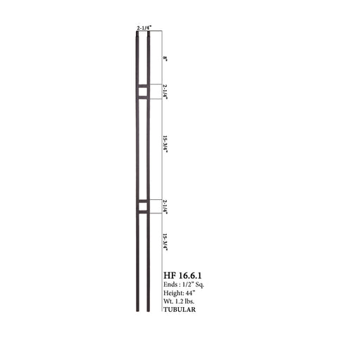 16.6.1 Aalto Modern Series Double Bar Hollow Baluster