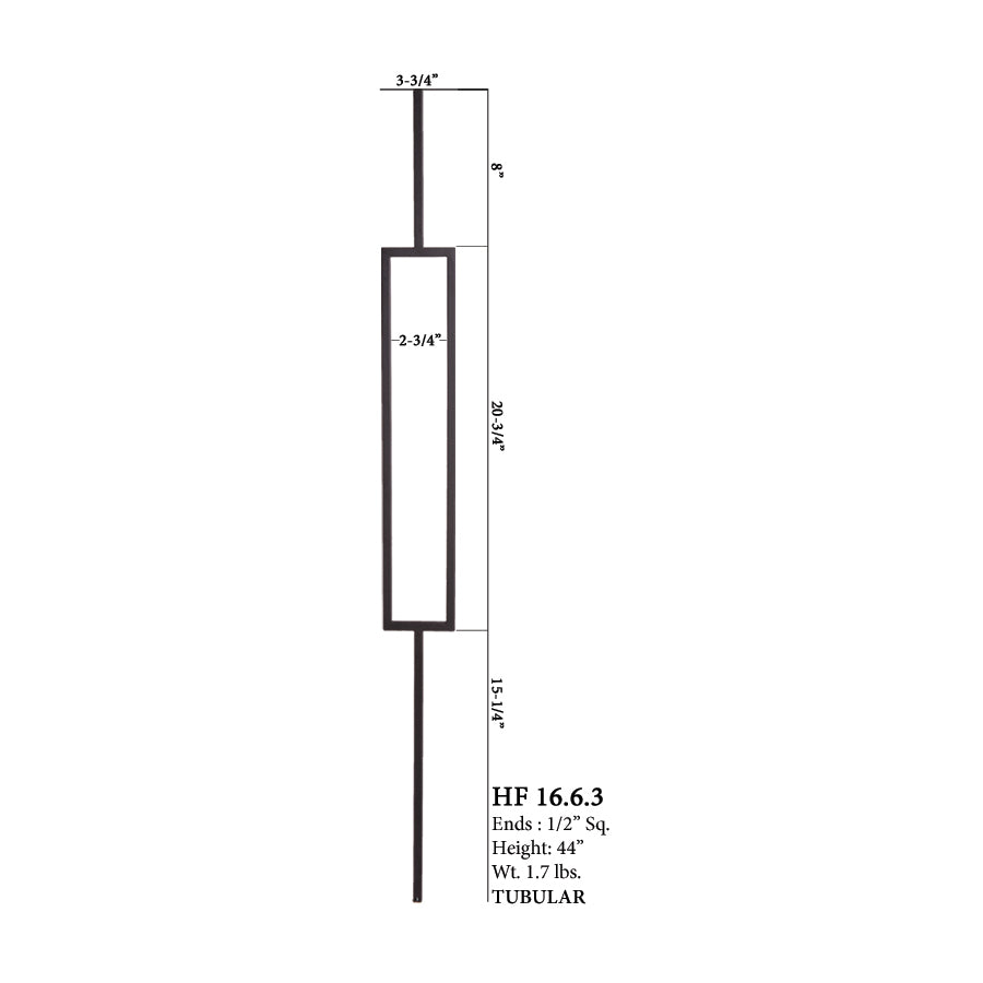 16.6.3 Aalto Modern Series Single Rectangle Hollow Baluster
