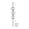 16.6.5 Aalto Modern Series Tripple Rectangle Hollow Baluster