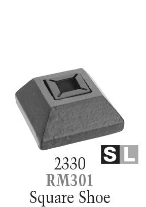 2330 Series RM301 Remodeling Shoe For 1/2 in or 9/16 in Square Baluster