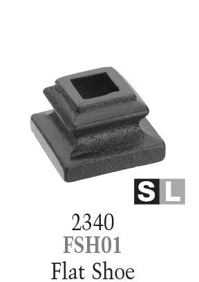 2340 Series FSH01 Flat Shoe For 1/2 in Square Baluster