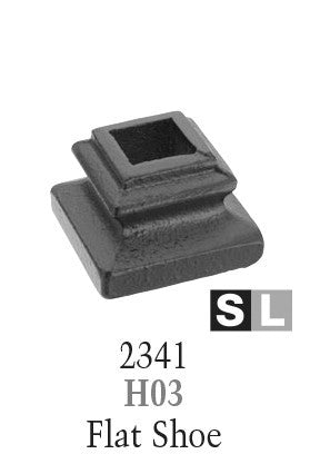 2341 Series H03 Flat Shoe For 9/16 in Square Baluster